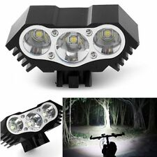 3 x CREE T6 LED Bicycle Lamp Bike Light Headlight Cycling Torch USB Charging Hot