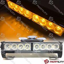 9 inch LED Amber Light Emergency Warn Strobe Flash Bar Hazard Construction Tow