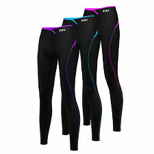 FDX Womens Super Thermal Base Layer Compression Tights Fitness Pants Running Gym