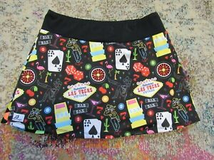 UNBRANDED (Las Vegas Theme) Women's (Multi-colored) Skirt/Skort - Size Medium