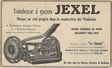 Y7286 Tondeuse à gazon JEXEL - Pubblicità d'epoca - 1928 Old advertising