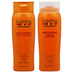 Cantu Shea Butter Moisturizing Shampoo + Conditioner 13.5oz  2 PACK SET