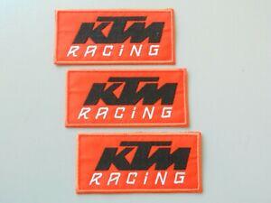 PATCH KTM ARANCIO PZ 3 RICAMATA TERMOADESIVA  CM 10X5-REPLICA-COD.502