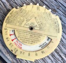 Vintage Johnson Photographic Exposure Calculator