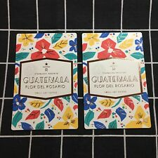 Lot of 2 China Starbucks Reserve Tasting Card Guatemala Flor Del Rosario
