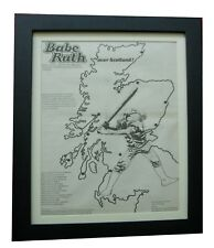BABE RUTH+First Base+TOUR+POSTER+AD+RARE+ORIGINAL 1973+FRAMED+FAST GLOBAL SHIP