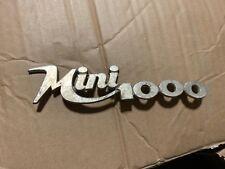 Targhetta Innocenti Mini 1000 Emblem Badge In Metallo Originale -