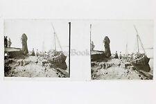 Egypte Plaque verre positif N° 7 Stéréo Stereoview Vintage