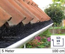 5 Meter Dachrinnenbürste Ø 8cm, á 100cm Laubschutz Photovoltaik Marderschutz