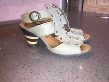 Pale Sky Blue Fly London Sandals  Sz 38 Uk 5