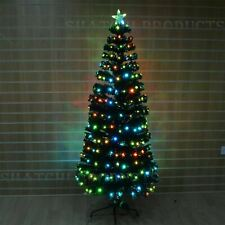 Artificial Fiber Optic Christmas Tree LED Xmas Home Decor Decorations 6ft 180cm