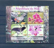 MALI 2011 BLOCK BUTTERFLIES AND ORCHIDEE   MNH