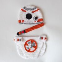 Star Wars BB-8 Hat, Diaper Cover , Light Saber Halloween Costume Cosplay Outfit