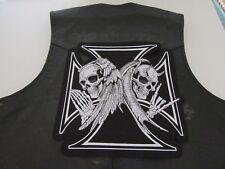 """Grand patch écusson """" ange et démon """"biker,harley,moto,lady,country, 28 X 28 cm"""