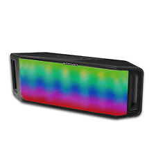 Portable Bluetooth Speaker LED Rainbow Dancing Light Up Speakerphone MiC TF 6W