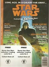 ENGLAND UK Star Wars Magazine w/ set of 6 trading cards (1992) w/ card album