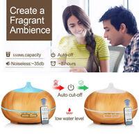 Aroma Diffuser Ultraschall Humidifier Duftöl Lufterfrischer Raumbefeuchter 550ml