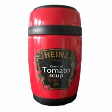 More details for heinz tomato soup flask with screw top lid and spoon - retro travel accessories