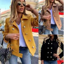 Giacca donna corto panno doppiopetto cappotto bottoni dorati TOOCOOL JL-82132