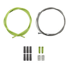 UNIVERSAL BICYCLE BRAKE CABLE & HOUSING FRONT& REAR KIT GREEN FERRULES BITS TIPS