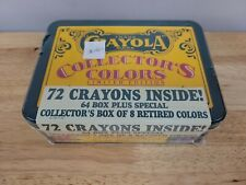 Crayola Collectors Colors Limited Edition, Tin with Crayons, 1991 Vintage Sealed