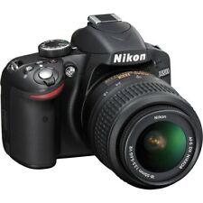 Nikon D3200 24.2 MP DSLR Camera *Black  (Kit w/ 18-55mm & 55-200mm Lens W/16Gb)