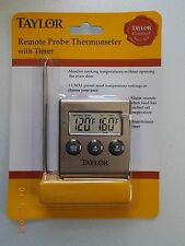 New Taylor Remote Probe Digital Thermometer with Timer Great for Grilling!