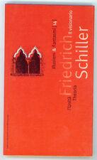 SCHILLER FRIEDRICH IL VISIONARIO  L'UNITA' THEORIA 1994