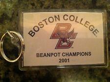 Boston College hockey Beanpot Champions 2001 keychain