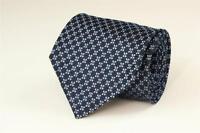 BANANA REPUBLIC Blue w Blue Square Geometric Silk Tie
