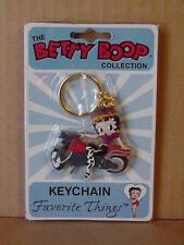 BETTY BOOP KEY CHAIN LOT - 2 PIECES - BIKER WITH WHITE STOCKINGS DESIGN