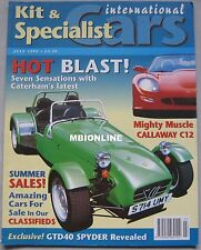 Kit & Specialis Cars magazine 07/1999 featuring Caterham, Callaway, GTD Spyder