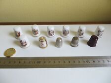Job Lot Vintage Sewing Thimble Collection 11 Thimbles China Horner Metal Plastic