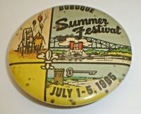 Vintage 1965 Dubuque Summer Festival Pinback Button Dubuque, Iowa (Riverboat) A