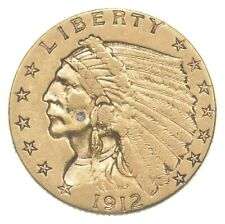 $2.50 United States 90% US Gold Coin - 1912 Indian - No Reserve *557