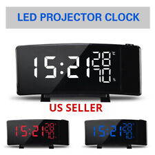 ALARM CLOCK PROJECTION THREE COLOR SWITCHING DISPLAY 2 USB