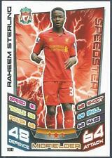 TOPPS MATCH ATTAX 2012-13- #100-LIVERPOOL-RAHEEM STERLING *ROOKIE*