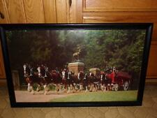 CLYDESDALE HORSES WITH CARRIAGE PICTURE FRAMED LARGE. VNTG. ROYAL? OR Budweiser