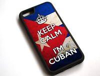 For iPhone XS Max Keep Calm I'm Cuban Cuba Flag Case Cover #10087