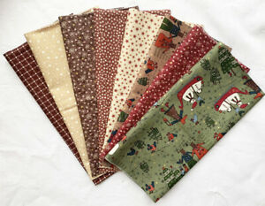 Lynette Anderson Winter Playground Fat 1/8 pack - contents 1 metre. Patchwork
