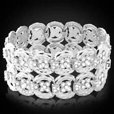 Crystal Platinum Plated Fashion Bracelets
