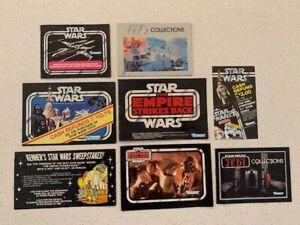1977 Star wars Kenner Mini Catalogs & Rebate offers Bundle