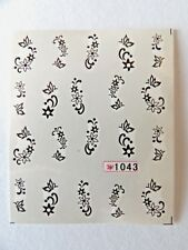 NAIL WATER TRANSFER STICKERS DECALS - FLOWERS AND BUTTERFLIES #1043