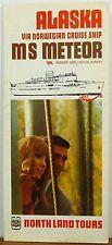 1970 Alaska Norwegian Cruise Ship MS Meteor deck plans Northland Tours brochure