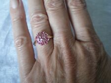 Padparadscha Sapphire ring, size N/O, 1.45 carats, 1.85 grams of 10 carat gold