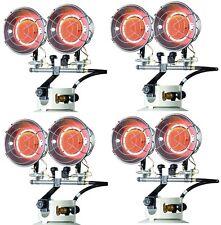 (4) ea Mr Heater F242650 8000-30000 Btu 2 Burner LP Propane Tank Top Heaters