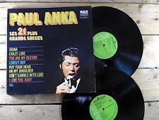 PAUL ANKA SES 21 PLUS GRANDS SUCCES 2 LP 33T VINYLE EX COVER EX ORIGINAL