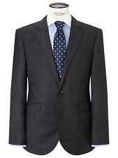 John Lewis Grey Windowpane Check Tailored Charcoal Jacket BNWT UK size 40R £140