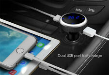 Dual USB Car Charger  FM Transmitter MMC MP3 Player w/Display for iPhone Samsung