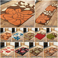 SMALL - LARGE LOW COST RUG FLORAL FLOWERS SOFT MODERN QUALITY SALE RUGS RUNNERS